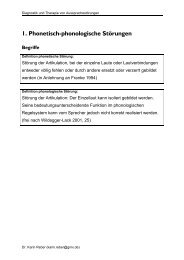 Folien zur Therapie phonologischer Störungen - Dr. Karin Reber
