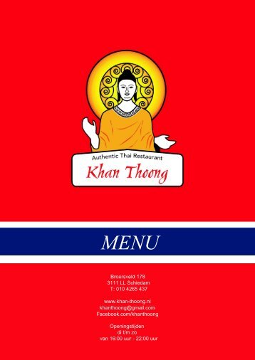 Menu - Khan Thoong