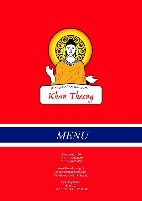 Menu - Khan Thoong