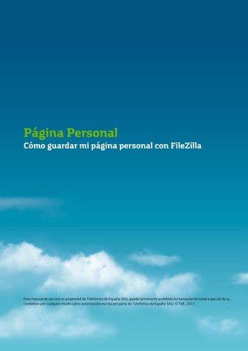 Cómo guardar mi página personal con FileZilla - Movistar