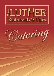 Catering-Broschüre - Martin Luther Restaurants & Cafés