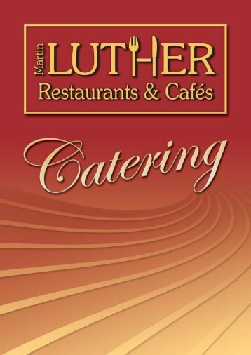 Catering-Broschüre - Martin Luther Restaurants & Cafés