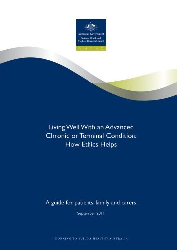 Living Well With an Advanced Chronic or Terminal Condition: How ...