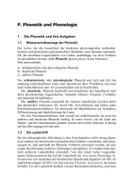 P. Phonetik und Phonologie - palacha`s web