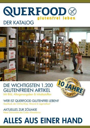 Katalog mit den wichtigsten 1.200 glutenfreien Artikeln inkl. Bildern ...