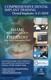 March 2010 - Dental Education – Miami