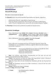 11. Sitzung Phonetik und Phonologie - UK-Online - Universität zu Köln