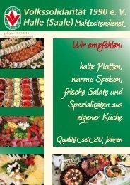 kalte Platten, warme Speisen, frische Salate und Spezialitäten aus ...