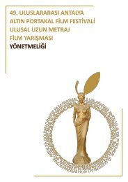 49. uluslararası antalya altın portakal film festivali ulusal uzun metraj ...