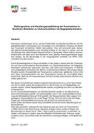 AGBF Stellungnahme und Handlungsempfehlung der ... - AGBF NRW