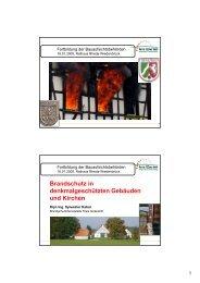 Teil 1 - Brandschutz für Baudenkmal, Kirche und Altbau