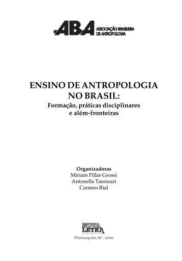 O Ensino da Antropologia no Brasil - ABA