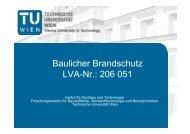 Baulicher Brandschutz LVA-Nr.: 206 051 - Institut für Hochbau und ...