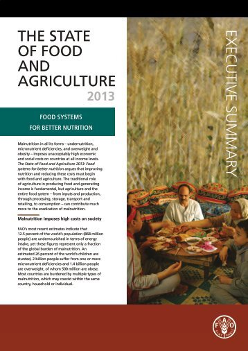 THE STATE OF FOOD AND AGRICULTURE EXECUTIVE SUMMARY