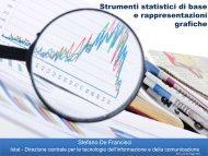 Strumenti statistici di base e rappresentazioni grafiche