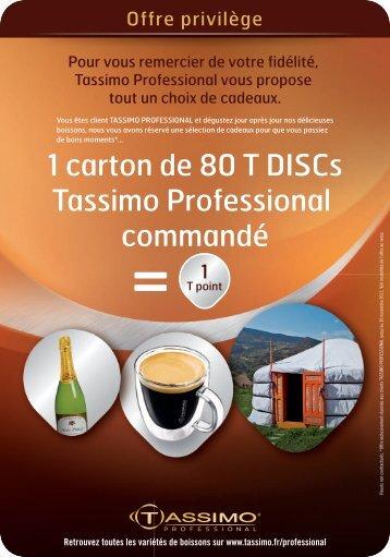 1 carton de 80 T DISCs Tassimo Professional commandé - Cofiges