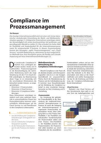 Compliance im Prozessmanagement - ERP-Management