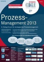 8. Dialog-Forum für strategisches Prozessmanagement