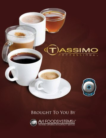 AVI Introduces Tassimo - AVI Foodsystems