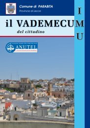 Scarica il Vademecum Informativo IMU 2012 - Comune di Parabita