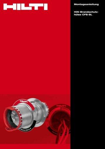 Adobe Acrobat Datei, 1.44 MB deutsch - Hilti Deutschland GmbH