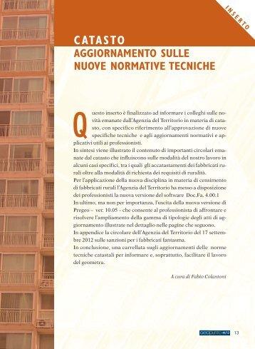 novita' catastali 2012 - Collegio dei geometri