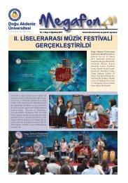 ıı. liselerarası müzik festivali gerçekleştirildi - Doğu Akdeniz ...