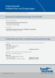 Internationale Prüfberichte und Zulassungen - hauff technik