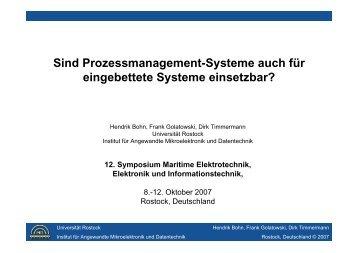 Sind Prozessmanagement-Systeme auch für eingebettete Systeme ...