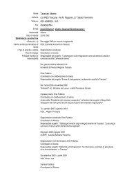 Nome Tassinari Alberto Indirizzo c/o IRES Toscana Via N. Paganini ...