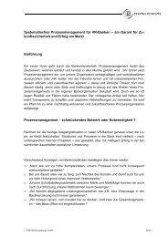 Systematisches Prozessmanagement für VR-Banken - Org-Portal.org