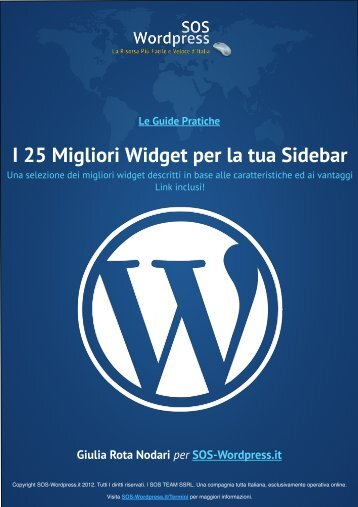 25 Migliori Widget per la tua Sidebar - Amazon Web Services