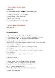 1. Kısa-ca Öğrenci Filmleri Festivali 1 Haziran 2001 İlk kez ...