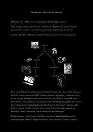 Sinemadaki Temel Teknik Ekipmanlar (PDF) - Sinema Kur