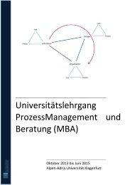 Universitätslehrgang ProzessManagement und Beratung (MBA)