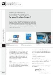 Auslandskartensperre - geno  kom Werbeagentur GmbH