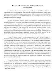 Membaca Indonesia dari Film dan Sinema Indonesia - Universitas ...