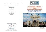xlv congresso nazionale della società italiana di buiatria - Ordine dei ...