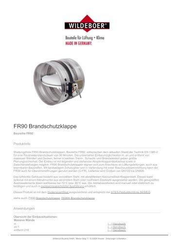 FR90 Brandschutzklappe