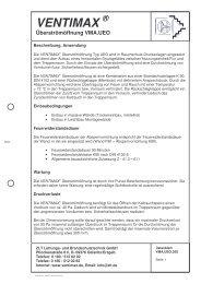 VENTIMAX ® Überströmöffnung VMA.UEO - ZLT Lüftungs