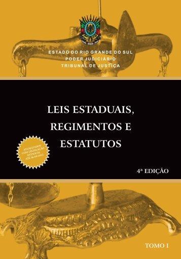 Leis Estaduais 2012 - Tomo I.indd - Tribunal de Justiça do Estado ...