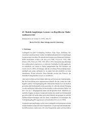 69. Modelle langfristigen Lernens von Begriffen im Mathe ...
