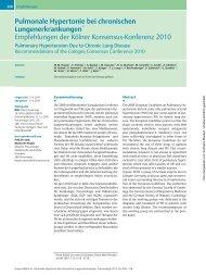 Pulmonale Hypertonie bei chronischen Lungenerkrankungen ...