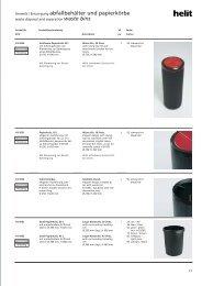 Umwelt / Entsorgung abfallbehälter und papierkörbe - Helit