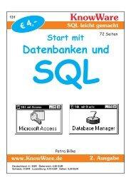 Start mit Datenbanken und SQL - KnowWare-Verlag
