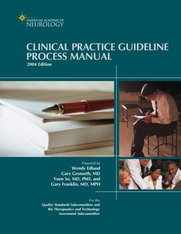clinical practice guideline process manual - American Academy of ...