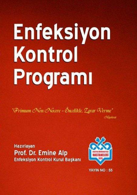07337c1387b6e Enfeksiyon Kontrol Programı Kitabı - Erciyes Üniversitesi Tıp ...
