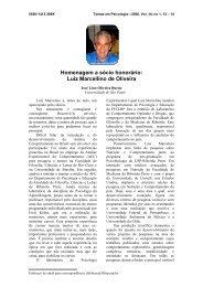 Homenagem a sócio honorário - Sociedade Brasileira de Psicologia