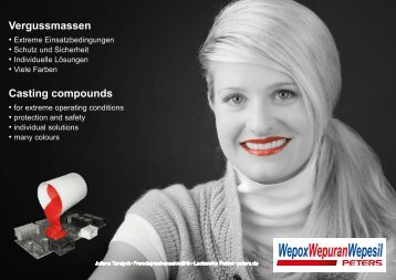 Vergussmassen Casting compounds