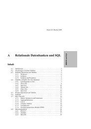 A Relationale Datenbanken und SQL